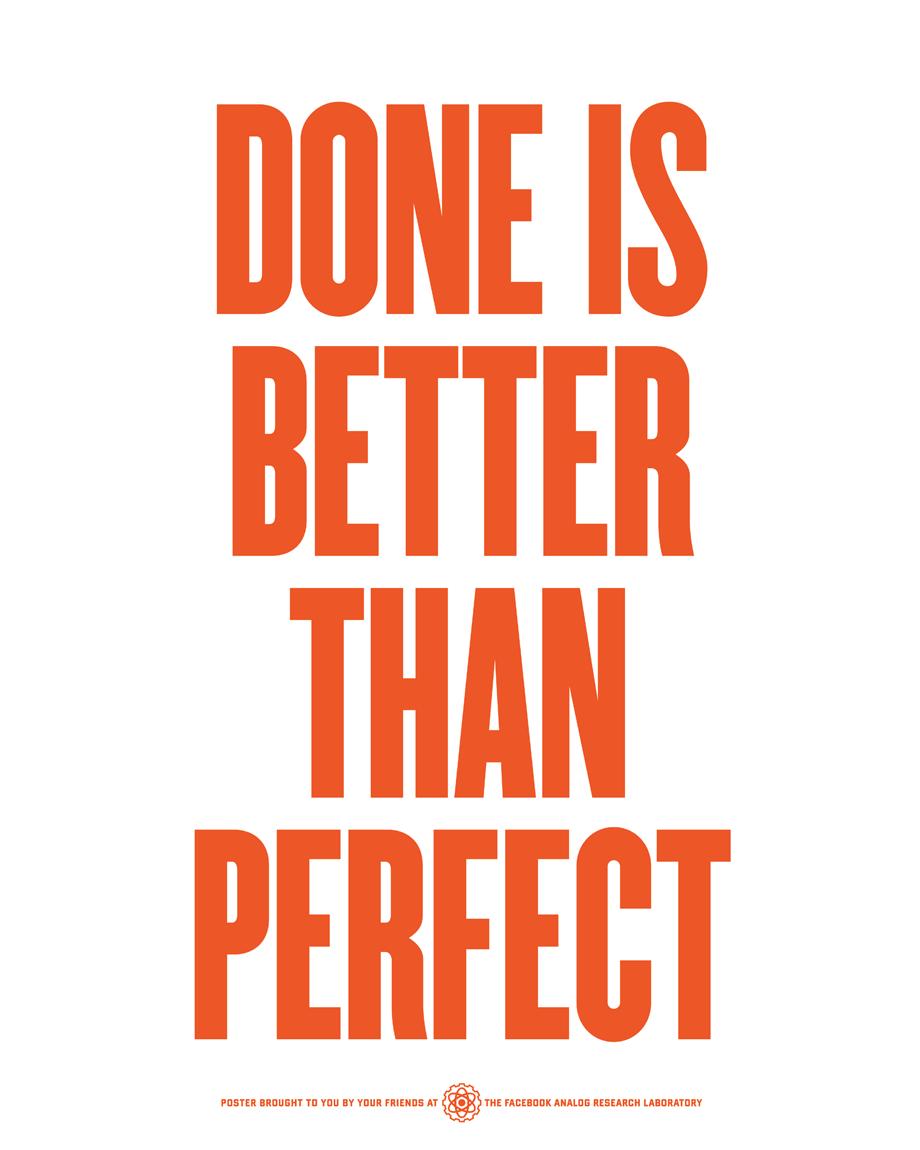 doneisbetterthanperfect